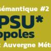 Séminaire du projet Popsu métropole