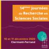Appel à communications 14e Journées de Recherche en Sciences Sociales (10 et 11 décembre 2020 – Clermont-Fd)